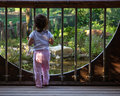 Child and garden Royalty Free Stock Photos