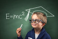 Child genius in education Royalty Free Stock Photo