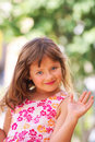 Child girl hand. Stock Images