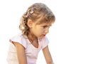 Child girl portrait sad Royalty Free Stock Photo