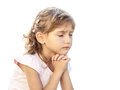Child girl pray Royalty Free Stock Photo