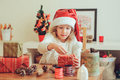 Child Girl Preparing Gifts For...