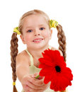 Child giving flower. Stock Images