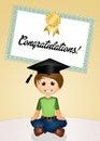Child graduate Royalty Free Stock Photo