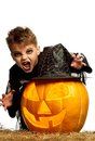 Child in halloween costume Royalty Free Stock Photo