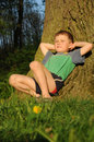 Child having relax Stock Images