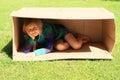 Child Hiding In Box