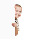 Child holding blank placard Stock Photos