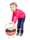 Child holding easter basket Royalty Free Stock Photo