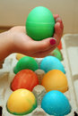 Child Holding an Easter Egg Stock Images