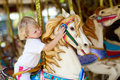 Child on the horse Royalty Free Stock Image