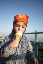 Child icecream bandana Royalty Free Stock Photos