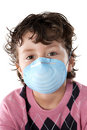 Child infected with influenza A Royalty Free Stock Images