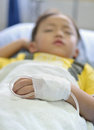 Child intra venous fluid Stock Images