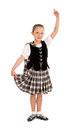 Child irish dancer in costume a traditional celtic or or national Royalty Free Stock Image