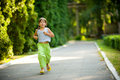 Child jogging Royalty Free Stock Photo