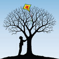 Child and  kite Royalty Free Stock Images