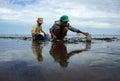 Child labor on Vietnam beach Royalty Free Stock Photo