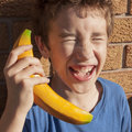 Child Laughing Pretend Play Royalty Free Stock Photo