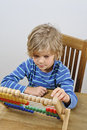 Child learning to count
