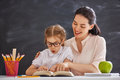 Child is learning to read Royalty Free Stock Photo