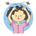 Child with lice Royalty Free Stock Photo