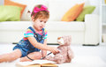 Child little girl playing doctor Royalty Free Stock Photo