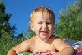 Child little smiling Arkivfoto