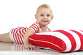 Child lying with pillow Stock Photography