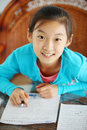 Child make homework Stock Photography