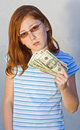 Child with money Royalty Free Stock Photos