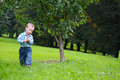 Child in nature. Royalty Free Stock Photography
