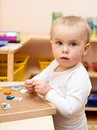 Child at nursery Royalty Free Stock Images