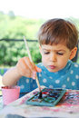 Child painting Royalty Free Stock Photography