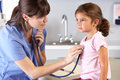 Child Patient Visiting Doctor's Office Royalty Free Stock Photo