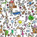 Child pattern seamless,vector Royalty Free Stock Image