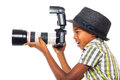 Child photographer Royalty Free Stock Images