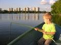 Child play fisher Stock Photo