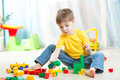 Child play at nursery Royalty Free Stock Photo