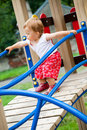 Child on playground Stock Photo