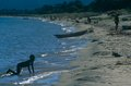 A child playing on the beach, Lake Malawi Stock Photos