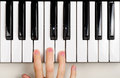 Child Playing the Piano Royalty Free Stock Images