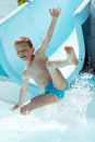 Child playing in the water Royalty Free Stock Photo