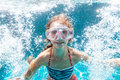Child in the pool underwater Royalty Free Stock Photo