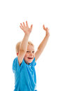 Child raising hands Stock Photography