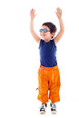 Child raising hands Royalty Free Stock Photography