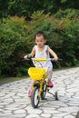 Child Ride bicycle Royalty Free Stock Image