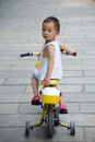 Child Ride bicycle Royalty Free Stock Photography