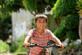 Child Riding Bicycle Royalty Free Stock Photo