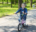 Child riding bicycle Royalty Free Stock Photos
